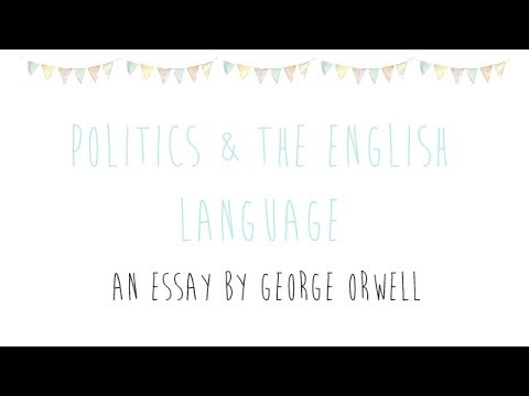 Politics And The English Language Review  Youtube Politics And The English Language Review