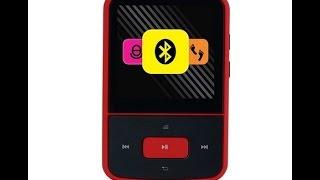 Crypto MP1500BT 8 GB MP4 Player mit FM Radio Bluetooth Micro-Sd Schrittzähler