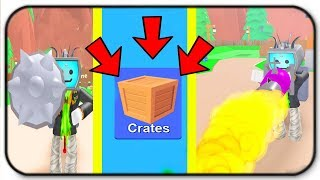 Update Unboxing Legendary Skin Crates, New Items! Basher And Flamethrower - Roblox Mining Simulator