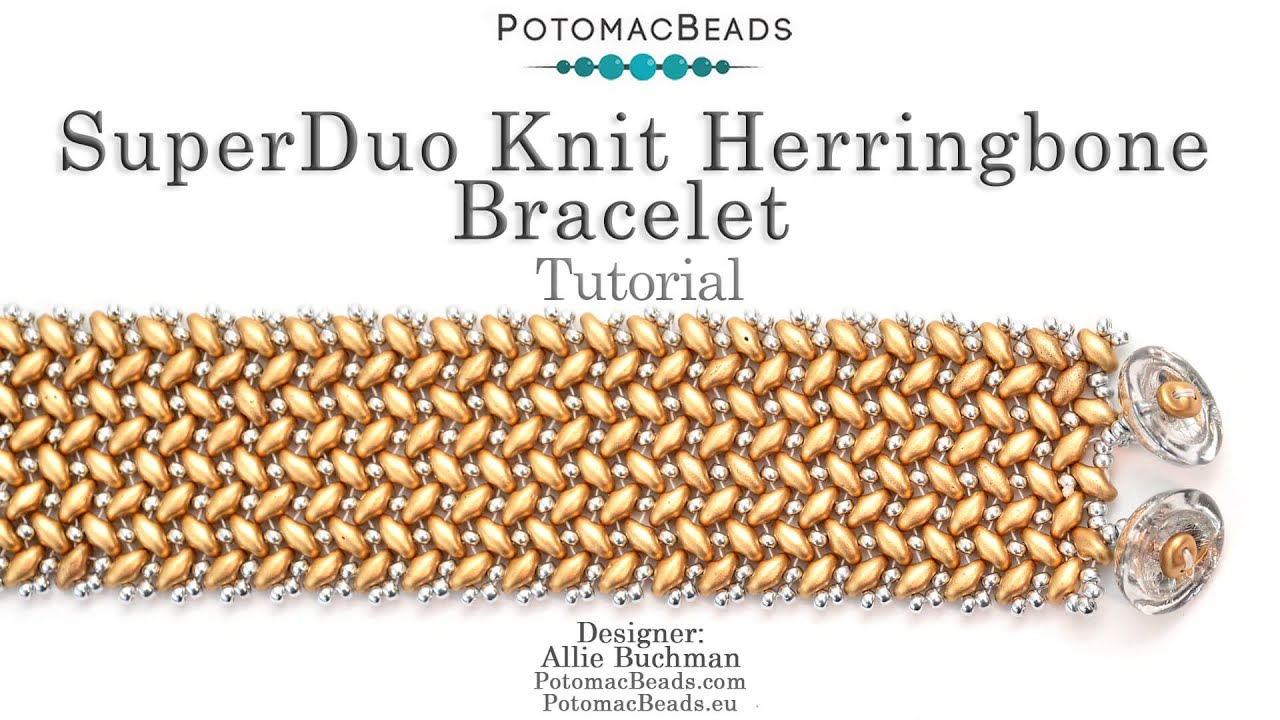 Make a superduo knit herringbone bracelet youtube bankloansurffo Images