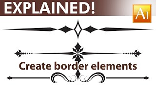 Adobe Illustrator Tutorial - How to create calligraphic border elements