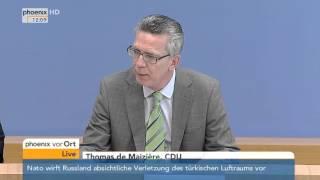 Organisierte Kriminalität 2014: PK mit de Maizière und Münch am 06.10.2015