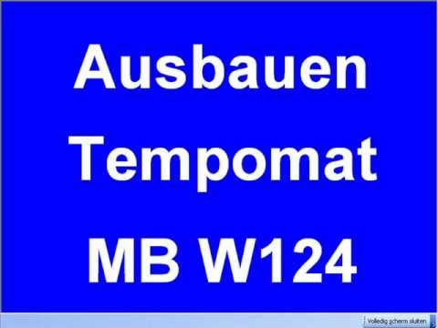 Ausbauen Tempomat W124 Reparatur Mercedes 300D Stellglied Überholung ...