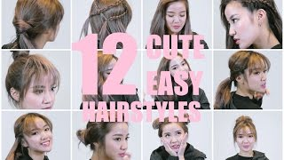 12 Quick and Cute Hairstyles for SHORT hair this Christmas!