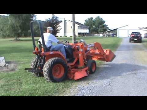 Kubota B7300 HST Compact Tractor Loader Belly Mower For Sale Mark Supply