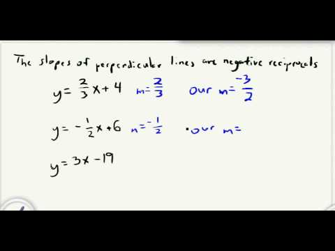 Finding slope perpendicular linesavi youtube finding slope perpendicular linesavi ccuart Images
