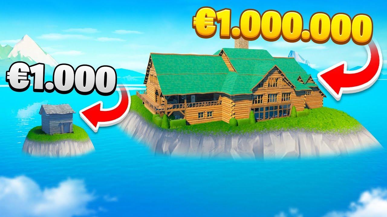 Maison à 1.000€ VS 1.000.000€ Challenge FORTNITE
