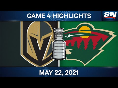 NHL Game Highlights | Golden Knights vs. Wild, Game 4 - May 22, 2021