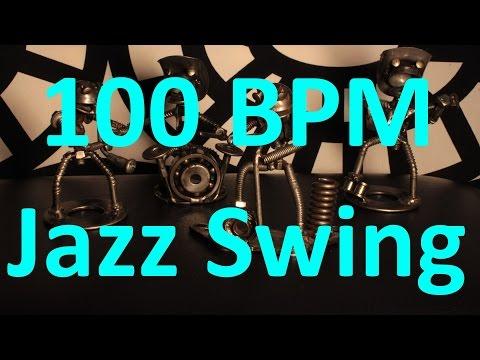 100 BPM - Jazz Swing - 4/4 Drum Track - Metronome