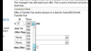 Soccer Manager Help - Player Search Page