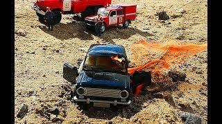 Горит машина ВАЗ 2101 Копейка! Поджег железную модель машины!