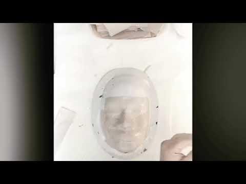 Papier-mâché Mask Using Elmers Paste