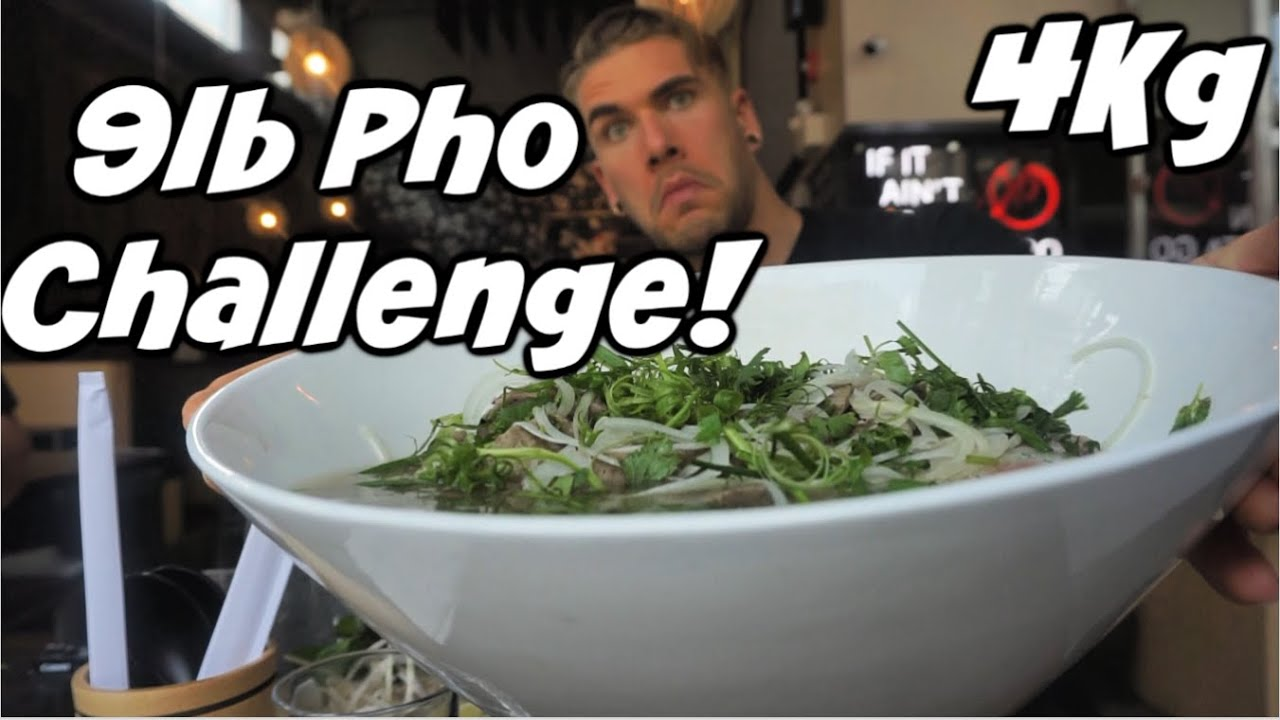 MASSIVE PHO CHALLENGE!! Alberta's BIGGEST Pho Noodle Soup! | Vietnamese Pho | Man Vs Food