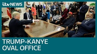 Kanye West swears in White House meeting with Trump | ITV News
