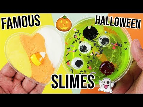 EXPOSING FAMOUS HALLOWEEN SLIME RECIPES!!! ?
