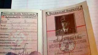Identification papers of Heinrich Himmler - Personal Nazi Ausweis von Heinrich Himmler