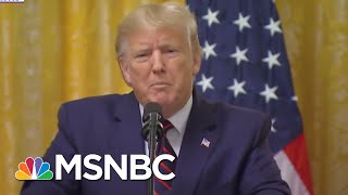 A Swearing And Ranting Trump Refuses To Answer The Key Ukraine Question | The 11th Hour | MSNBC