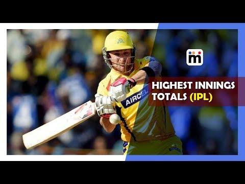 Highest innings totals in IPL |Mijaaj Sports News