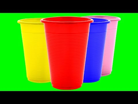 10 COOL CRAFTS WITH PLASTIC AND PAPER CUPS AND GLASS