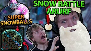 SNOWBALLS IN URF?! SNOW BATTLE ARURF IS HERE FOR THE HOLIDAYS!! FULL AP JAX URF GAMEPLAY