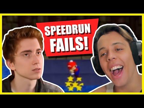 Cheese Reacts to Mario 64 Speedrun FAILS!