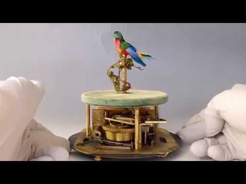 French Bontems Automaton Mechanical Singing Bird Cage Inner Movement