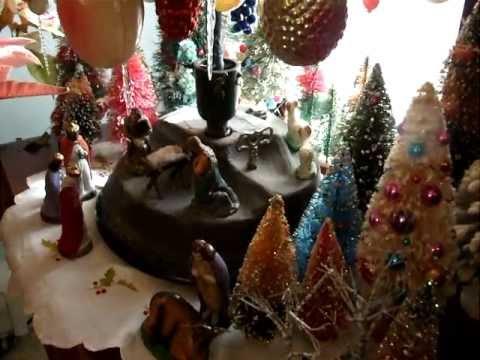 Vintage rotating german christmas tree stand youtube