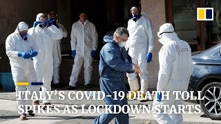 Italy puts 16 million people in lockdown as coronavirus death toll spikes by over 100
