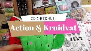 Compras Haul de Scrapbook | Kruidvat y Action Bélgica | Yoltzin Handmade