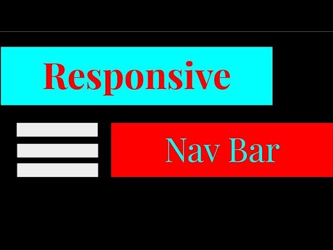 Responsive Nav Bar || HTML || CSS || JavaScript thumbnail