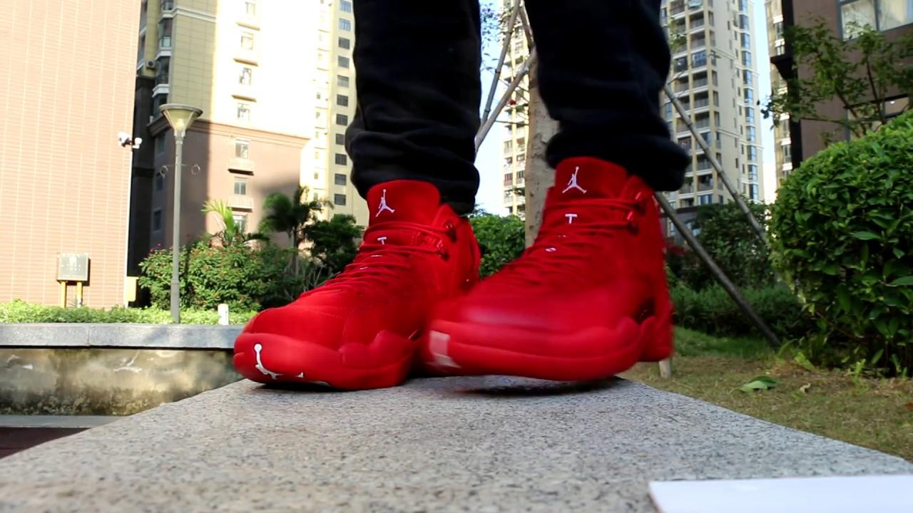 lowest price ffc71 5373e Air Jordan 12 Red Suede On Feet HD Review From Trade666a.cn Daniel Ke