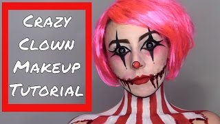 Creepy Clown Makeup Tutorial - How to Apply Cinewax to Create Scarred Cheeks - Step by Step Makeup