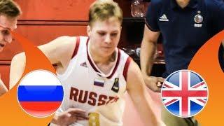 Russia v Great Britain - Quarter-Finals - Full Game - FIBA U16 European Championship Division B 2018 thumbnail