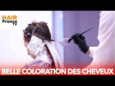 TEINTURE DE BEAUX CHEVEUX. TENDANCE 2020 ÉDUCATION DES COIFFEURS. HAIR FRANCE TV