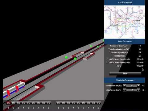 3D Underground Train Simulator - development video