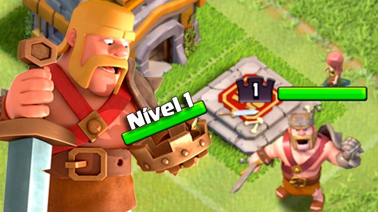 o poder do rei bÁrbaro nÍvel 1 comeÇando no clash of clans 25