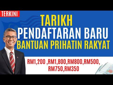 Pendaftaran baru Bantuan Prihatin Rakyat Sebelum Hujung Januari 2021RM1,200 ,RM1,800,RM800....