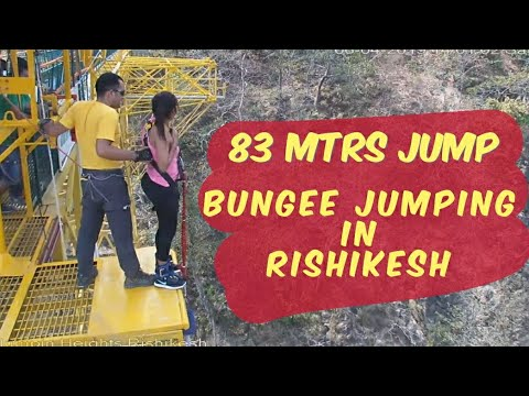 Bungee Jumping, Rishikesh, Uttrakhand | 83ft Jump, A crazy experience |