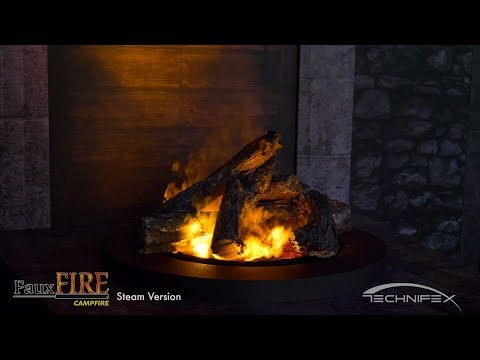 FauxFire® Campfire - Simulated Fake Fire Campfire - Steam Version
