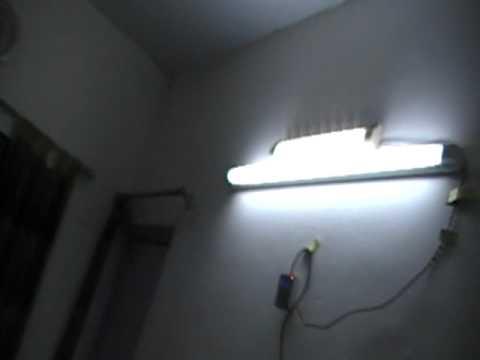 Light Wiring Diagram House 20w Led Lamp Versus 40w Fluorescent Tube Light Youtube