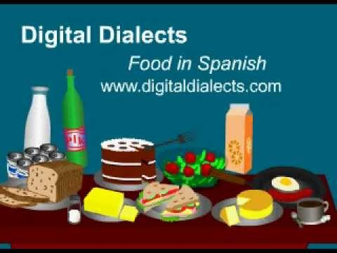 Learn Spanish - words for food