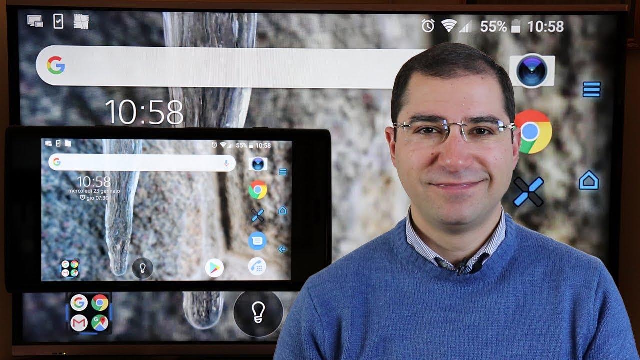 Proiettare smartphone su TV o il desktop del computer ...