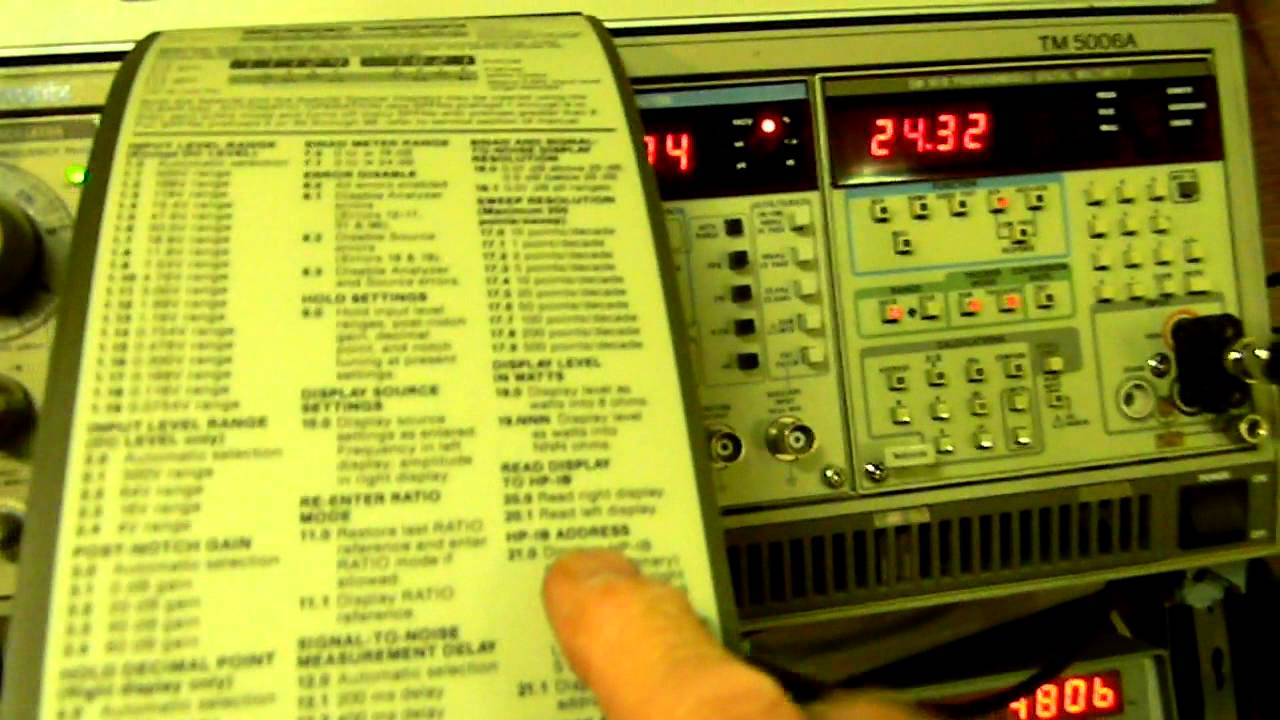 Hewlett Packard Hp 8903 Audio Analyzer Mov Youtube
