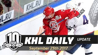 Daily KHL Update   September 23rd, 2017 (English)