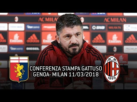 CONFERENZA STAMPA GATTUSO pre GENOA - MILAN (11/03/2018)