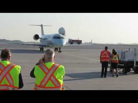 Inaugural Flight For Air Canada From Montreal To Hamilton International Airport