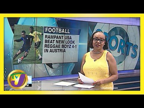 USA Beat New Look Reggae Boyz 4-1 in Austria | TVJ Sports