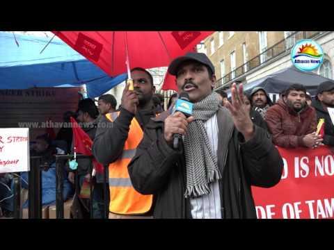 Hunger Strike Protest - Srilankan Tamils in London
