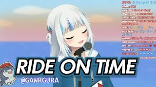 SHARK SINGING!!! Ride on time - Gawr Gura | Hololive English