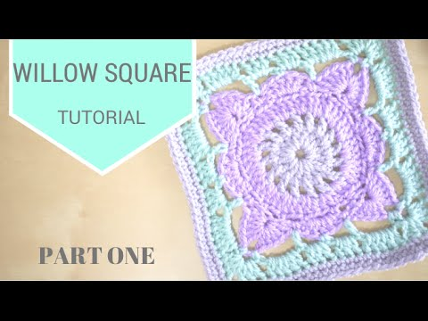 Crochet Willow Square Part 1 Bella Coco Youtube
